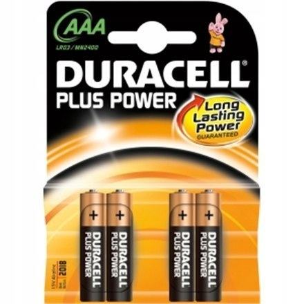 Duracell AAA/LR03, Alkaline Plus Power MN2400, 4 p