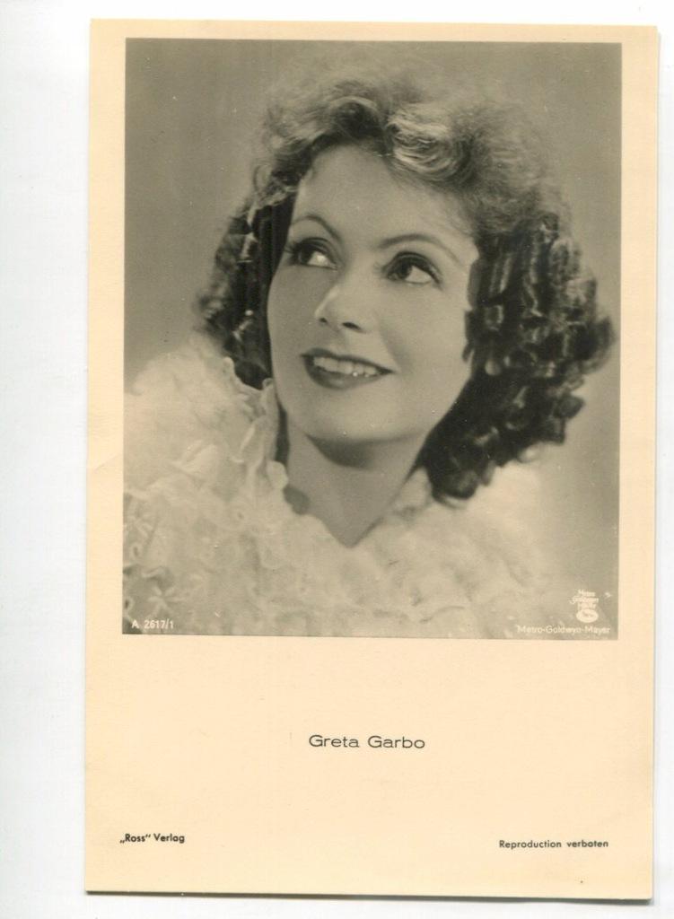 Greta Garbo Kino Film Aktorka Foto Pocztówka 47