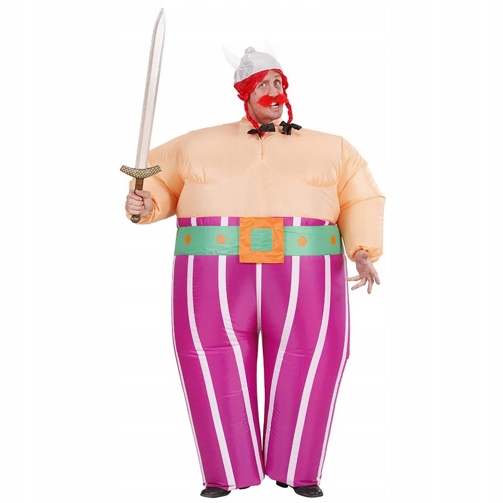 Mens Inflatable Viking Costume for Sparticus Roman