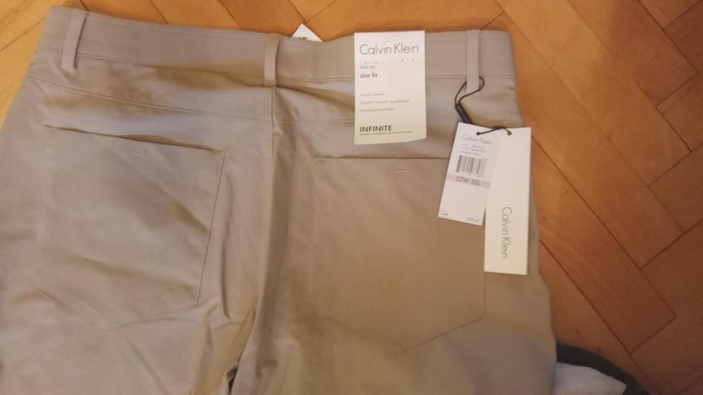 Spodnie Calvin Klein stretch