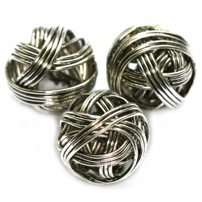 Koraliki metalowe druciane 2 szt. 12mm k5501