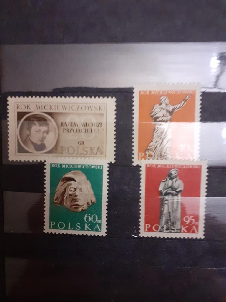 Filatelist. 1955- seria - Rok Mickiewiczowski