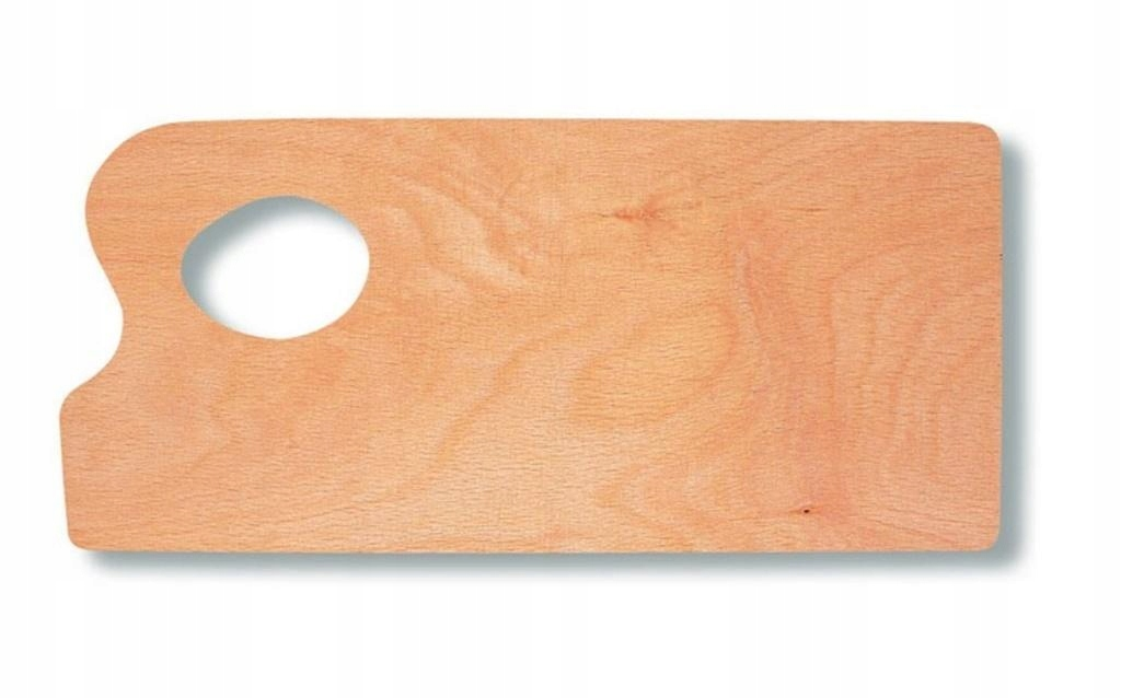Paleta malarska 29,5x13,5cm drewniana do farb