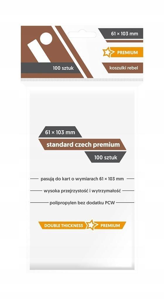 KOSZULKI STANDARD CZECH PR 61X103 (100SZTUK) REBEL
