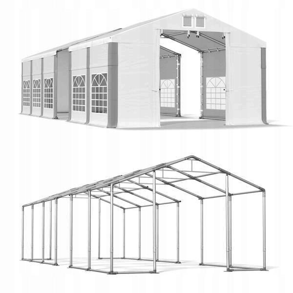 6x15m 2,5-3,6m Namiot ogrodowy wytrzymały zimowy