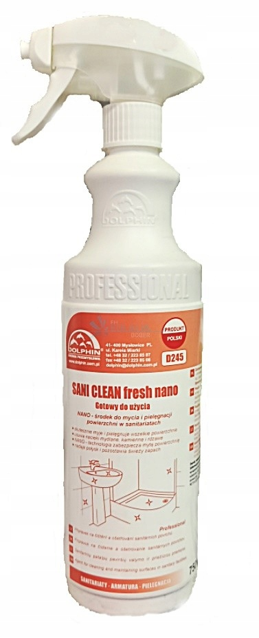 SANI CLEAN FRESH NANO PIANKA DO KABINY 0,75 L