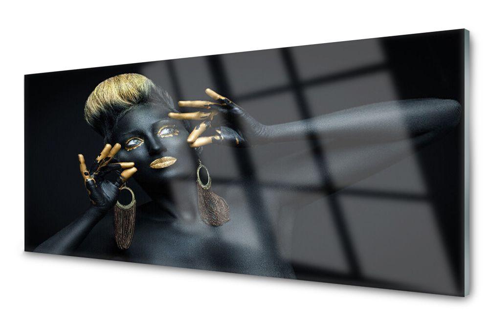 Lacobel Panel Szklany Ścienny Kobieta Farba 120x60