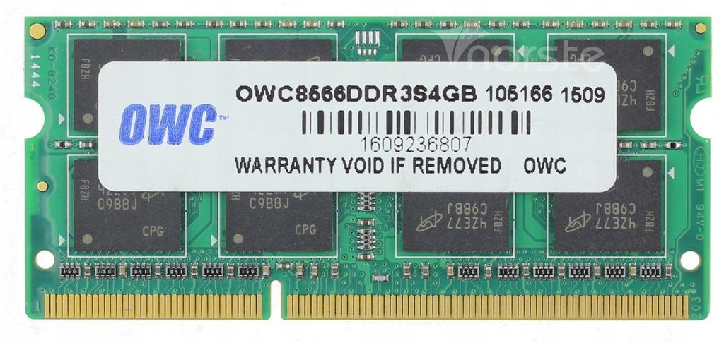 4GB 1066 DDR3 OWC PC3-8500S OWC8566DDR3S4GB