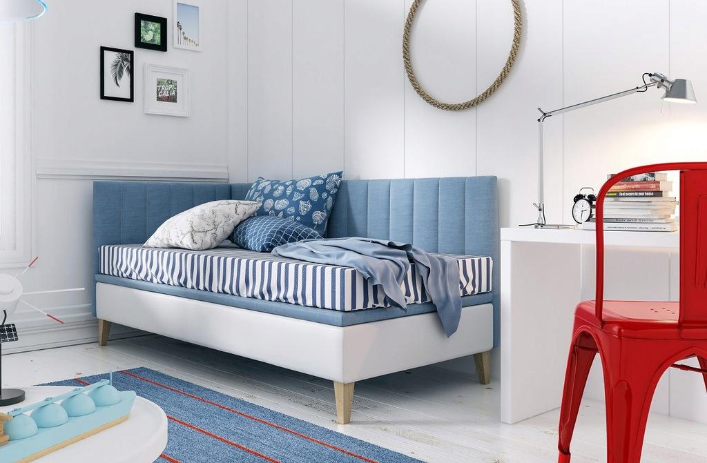 INTARO A9 łóżko młodzieżowe z pojemnikiem 90x200
