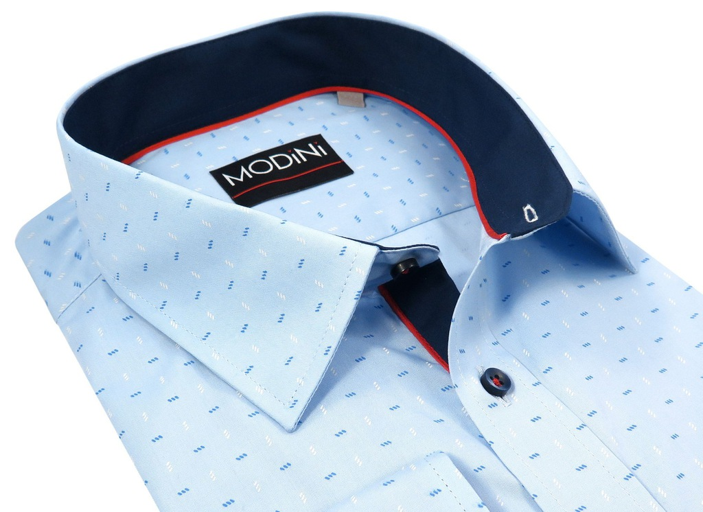 Błękitna koszula męska Modini A26 176 182 48 XXXL  HLF8k
