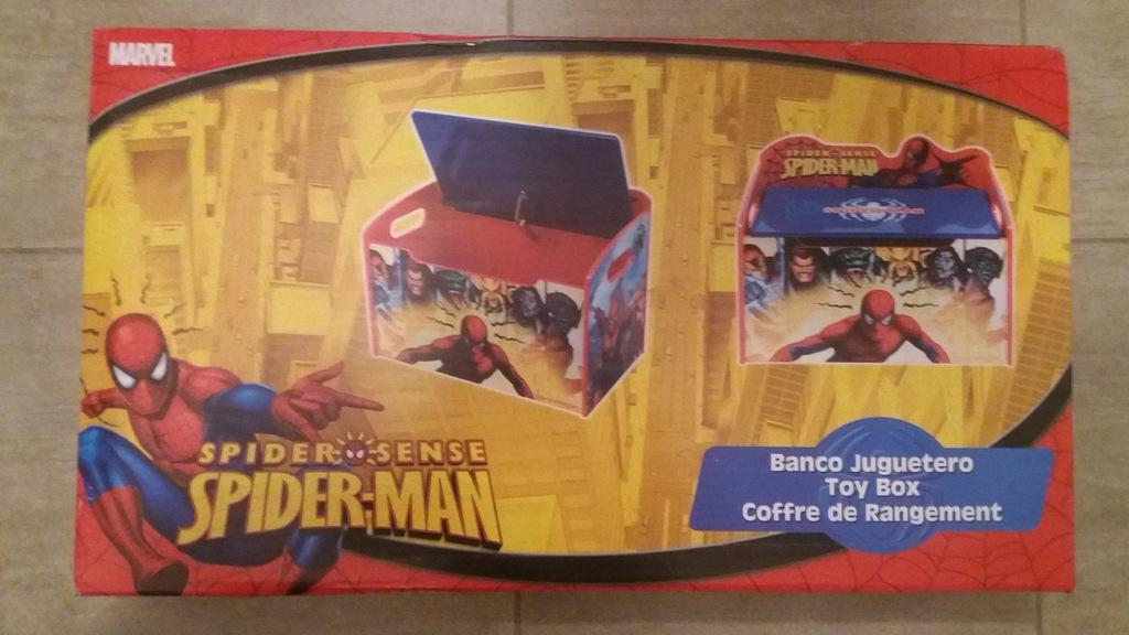 Pojemnik na zabawki, skrzynia drewniana Spiderman