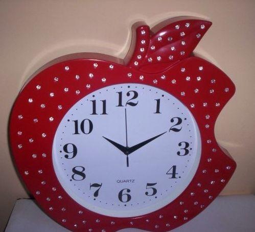 Zegar dziecięcy dla dzieci czerwone jabłko duże cy