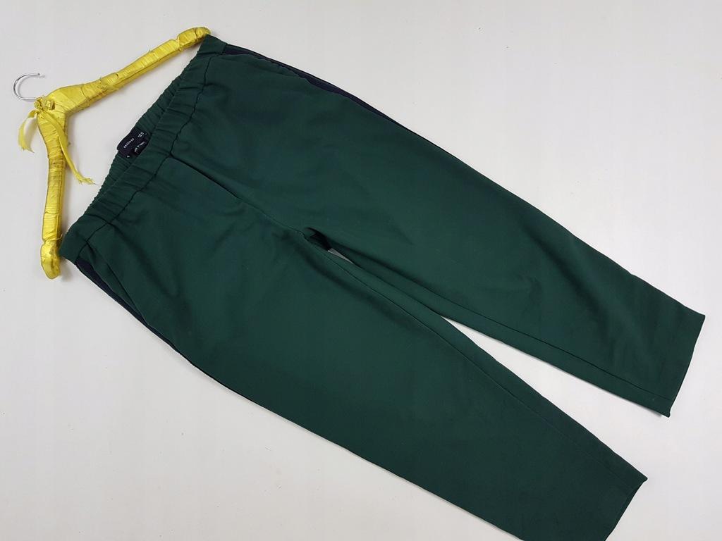 Reserved 42 Spodnie marszczone dwukolorowe