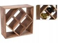 Stojak na wino butelki półka drewniana 33x33cm