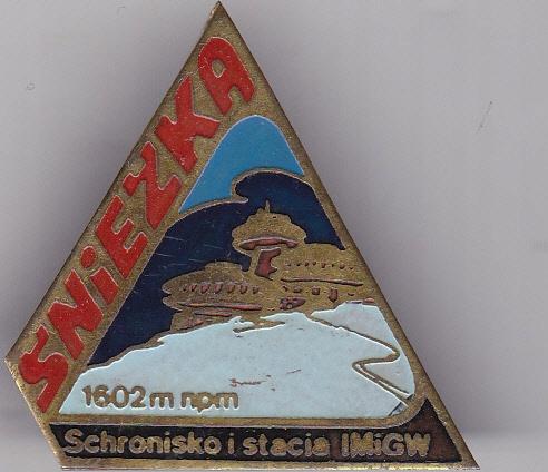 Odznaka Schronisko Śnieżka Karkonosze PRL
