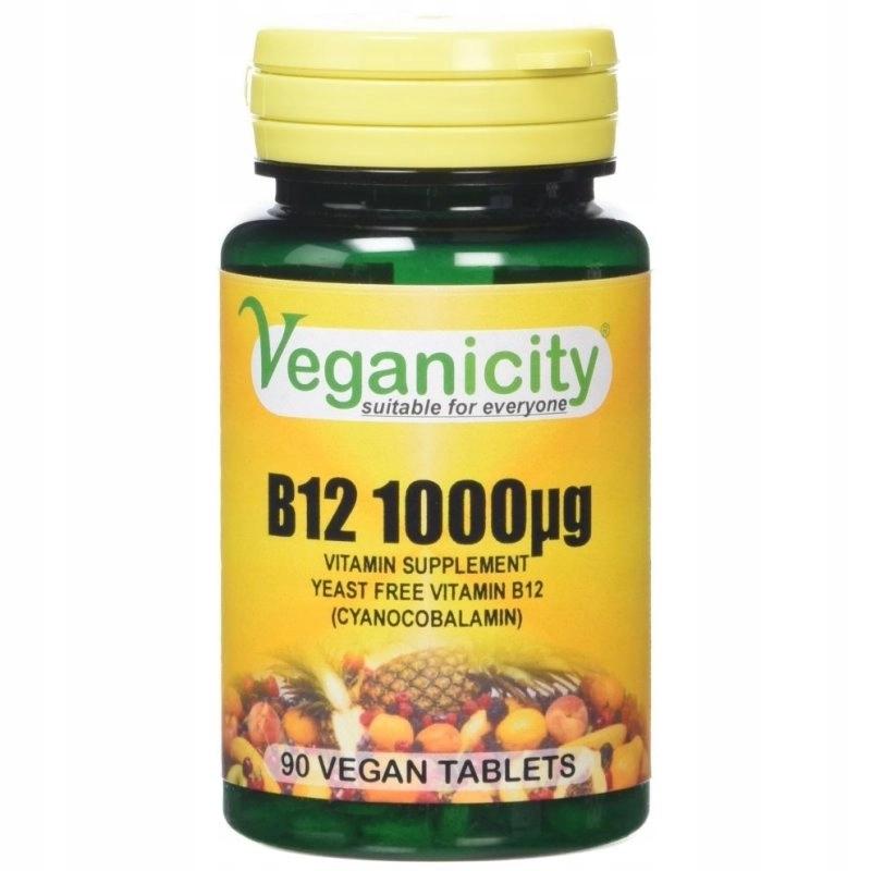 WITAMINA B12 1000 Veganicity Cyjanokobalamina Wege