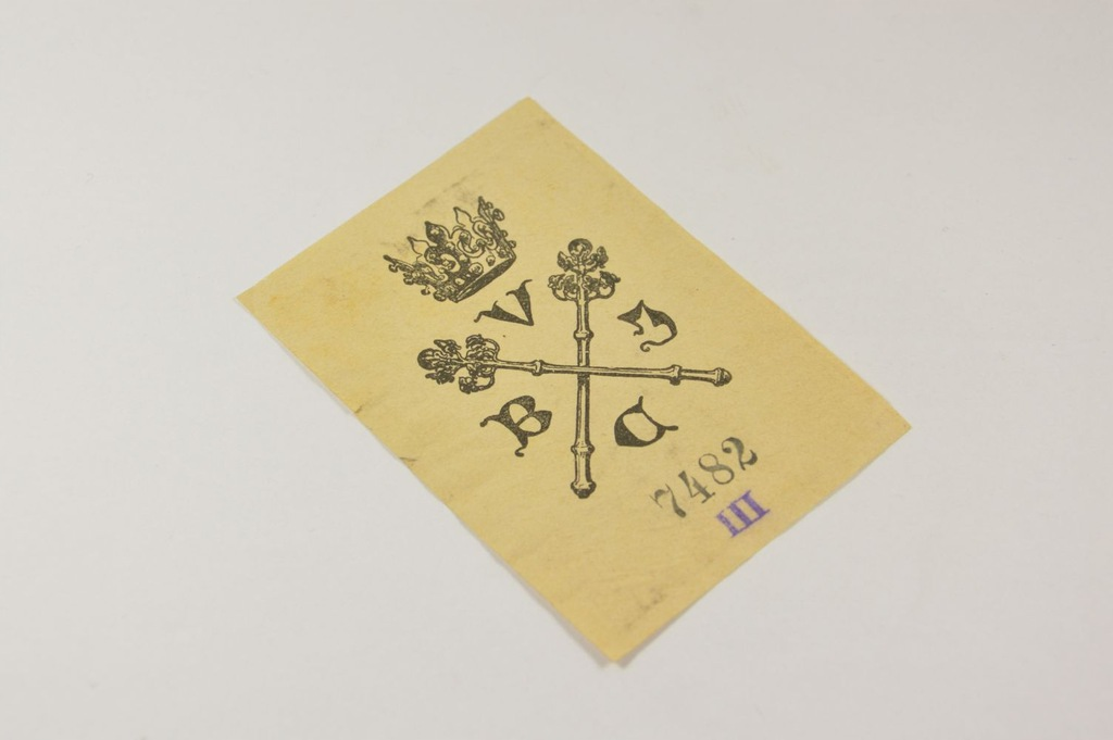 EXLIBRIS EKSLIBRIS BIBL JAGIELLOŃSKA BUKOWSKI 1906