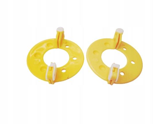 Przyrząd do robienia pomponów 5,5cm żółty