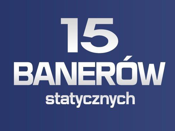 15 BANERÓW STATYCZNYCH JPG/GIF/PNG
