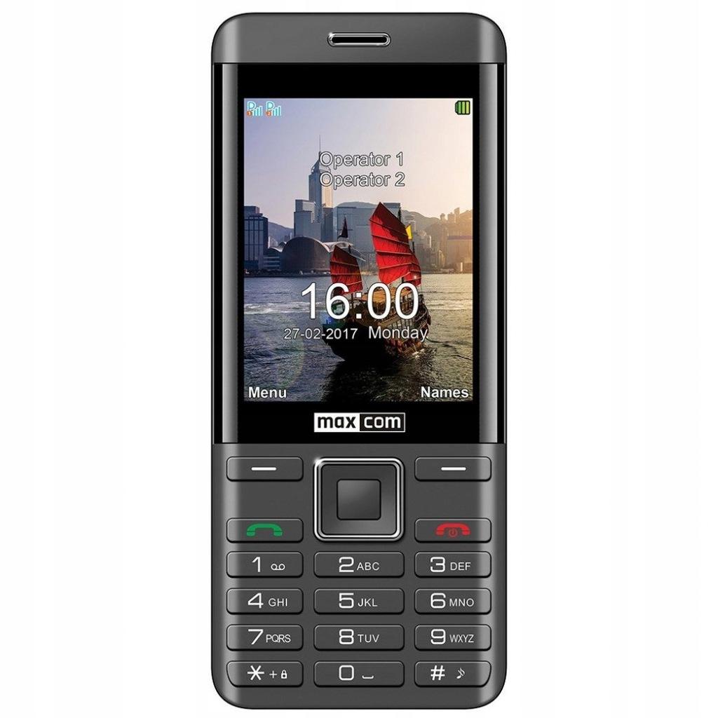 Telefon komórka MAXCOM MM236 czarno-srebrny