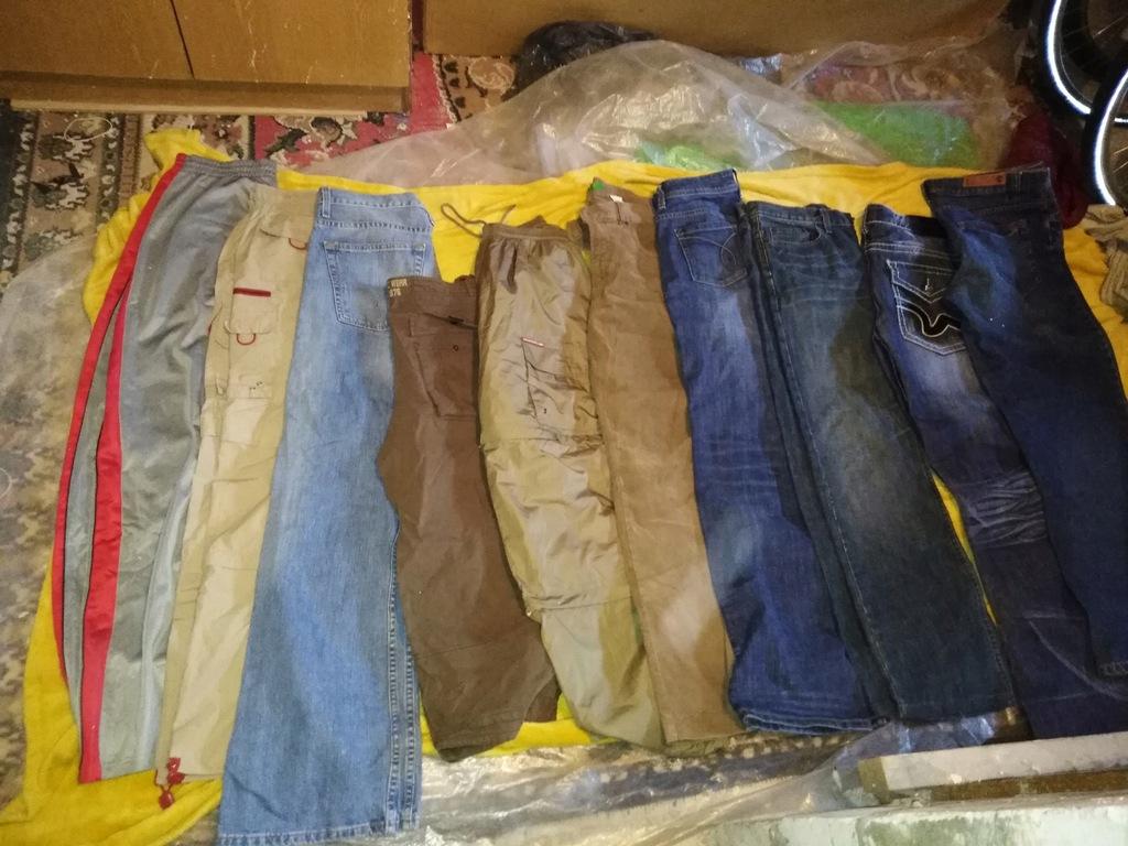 zestaw ubrań spodni 10 sztuk