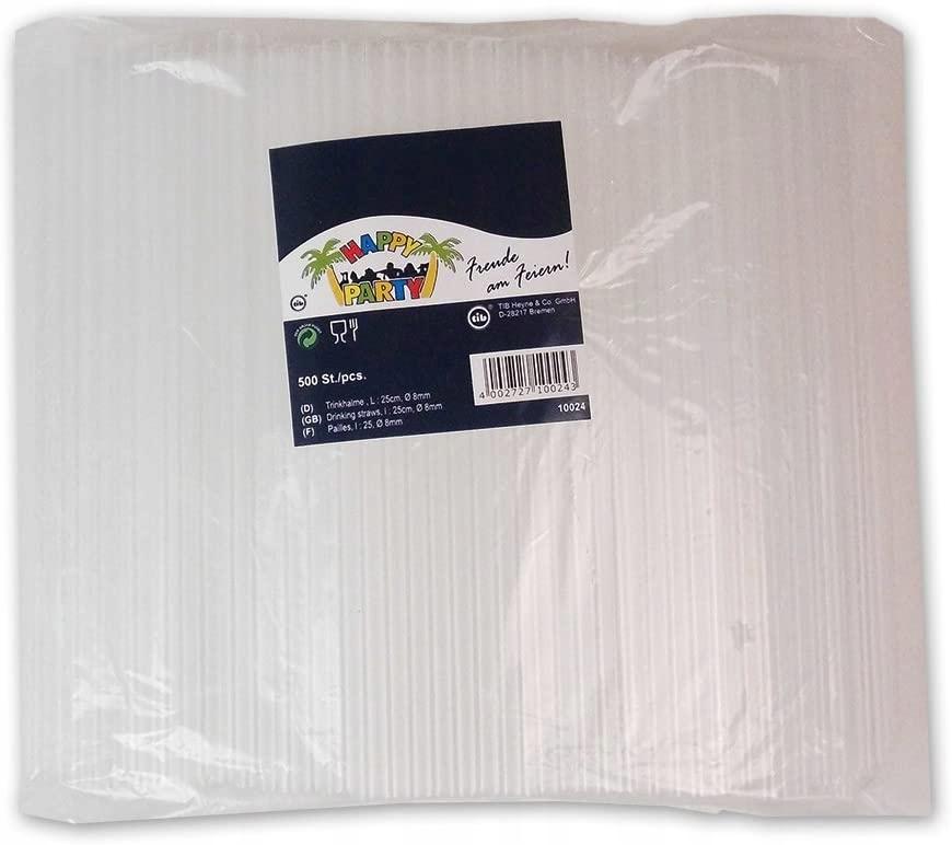 Plastikowe słomki do SHAKE'ÓW grube Tib 500szt