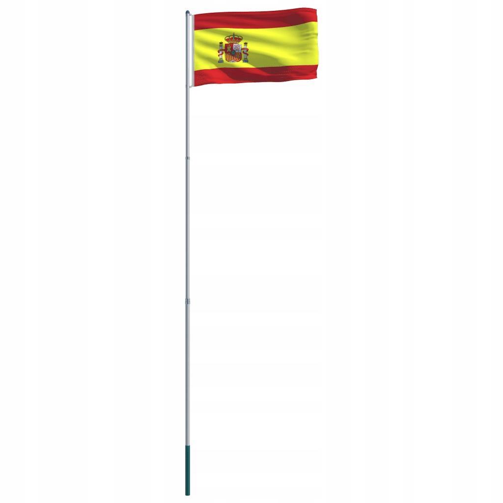 Flaga Hiszpanii Z Aluminiowym Masztem 6 m