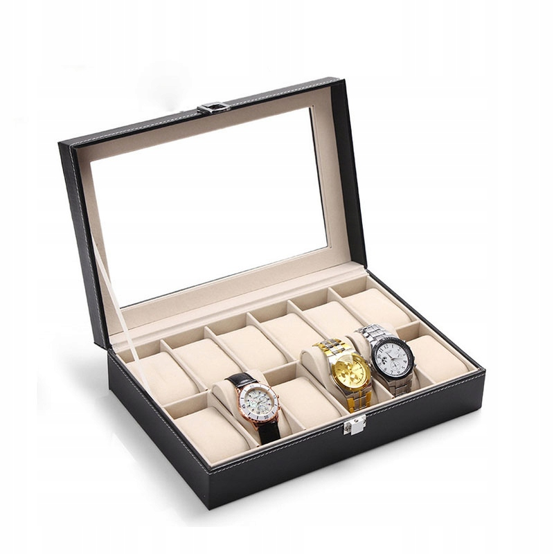 Organizer Pudełko Etui Na Zegarki Na 12 Zegarków
