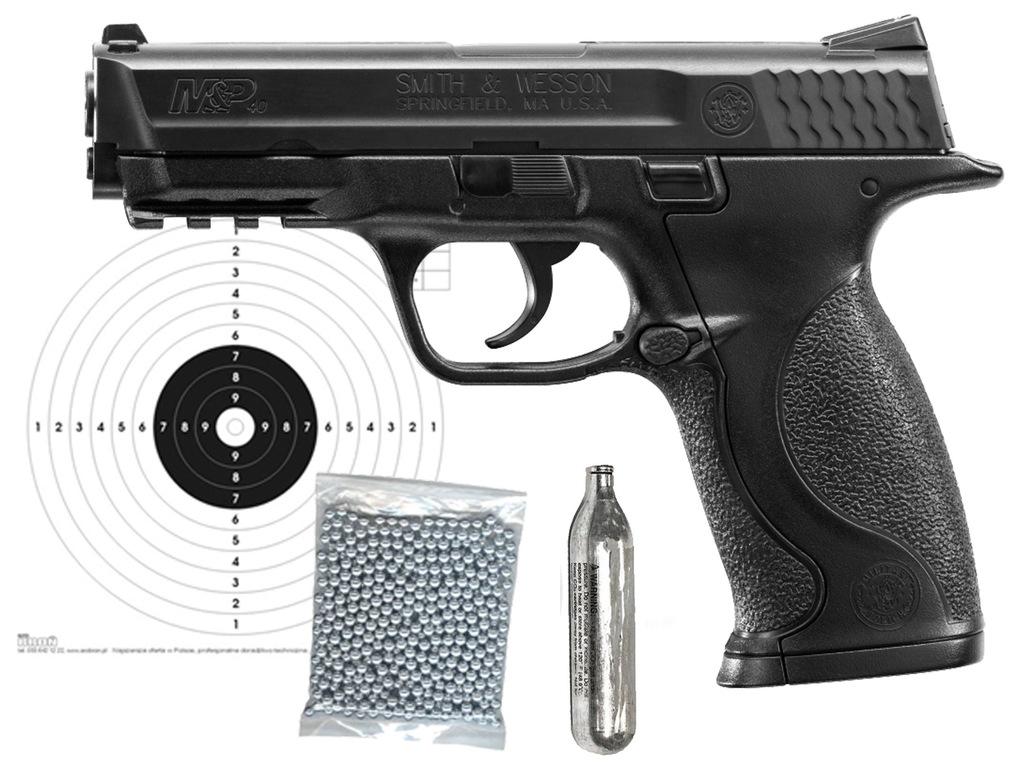 Wiatrówka Smith&Wesson M&P 40 4,46 ZESTAW