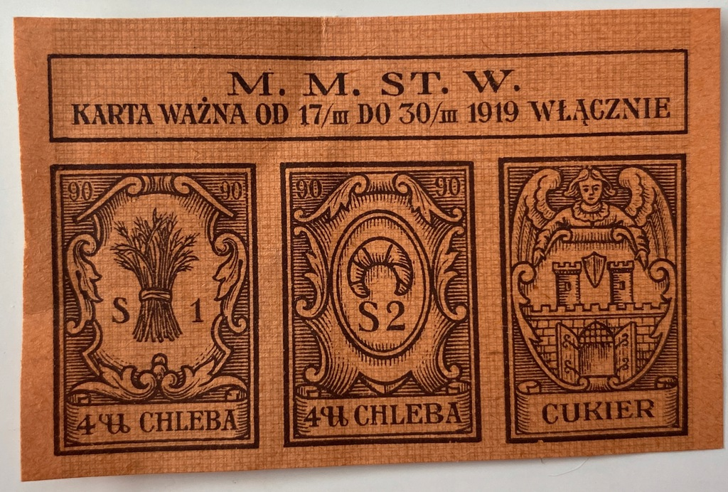 3662. Warszawa okres 90 - mała na chleb i cukier
