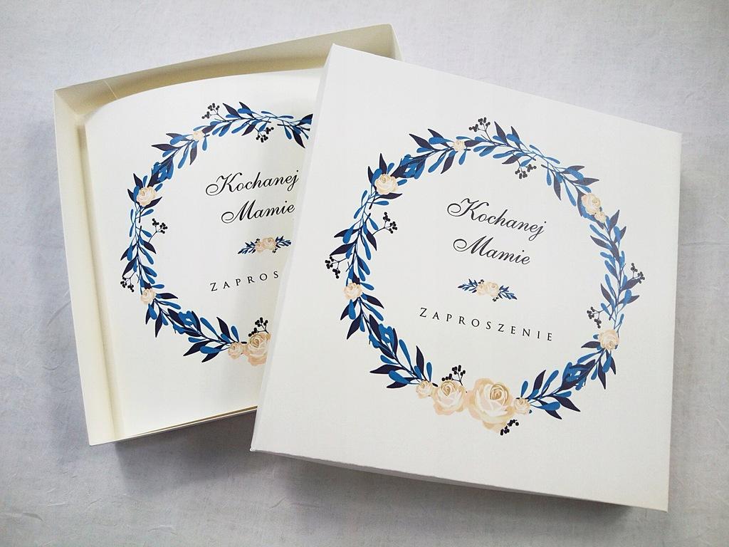 Zaproszenie Ślubne dla Mamy w pudełku wianek