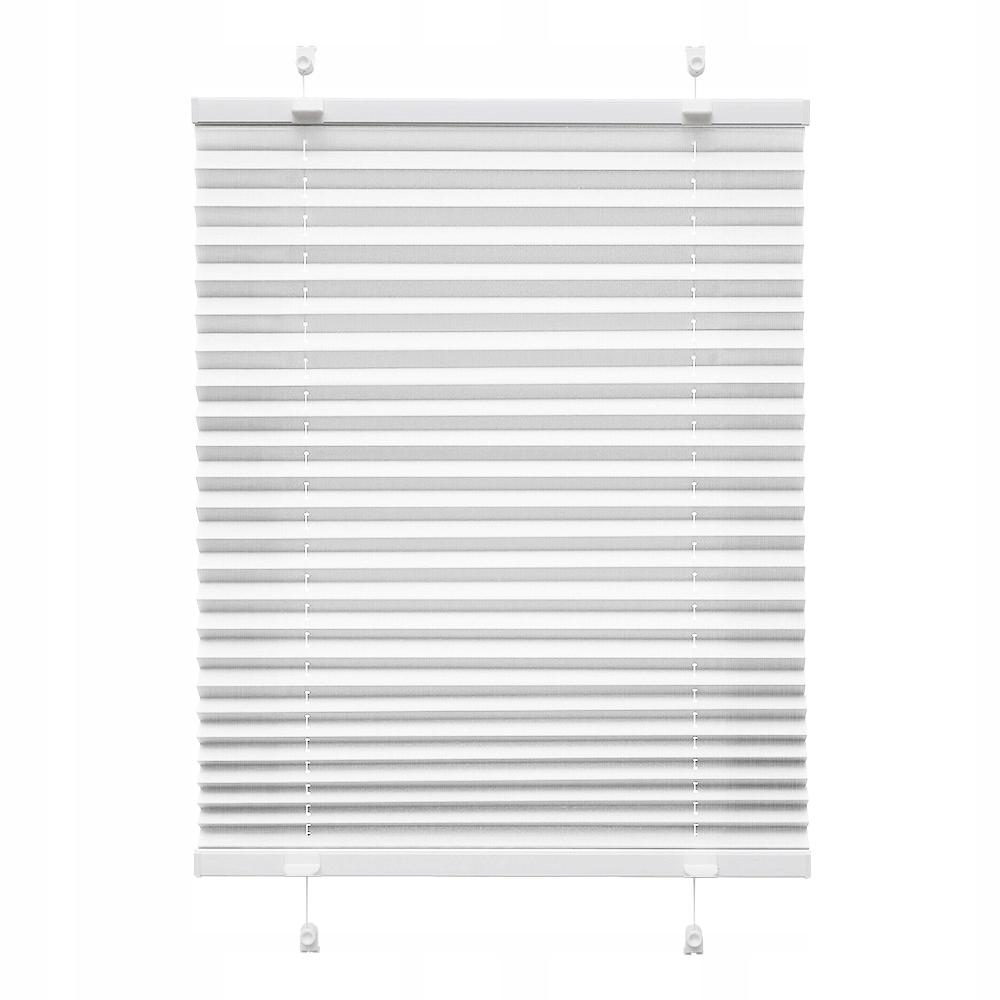 Roleta plisowana biała 45x120cm - WYPRZEDAŻ