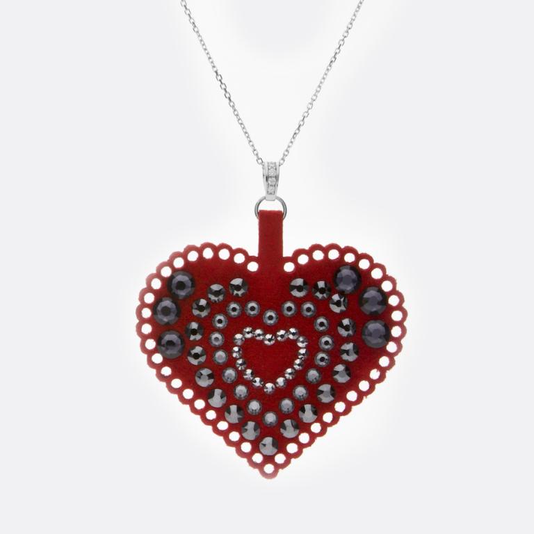 Unikalny naszyjnik marki SPARK w kształcie serca