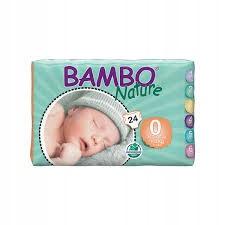 Eko pieluszki BAMBO NATURE 0 1-3kg 24szt