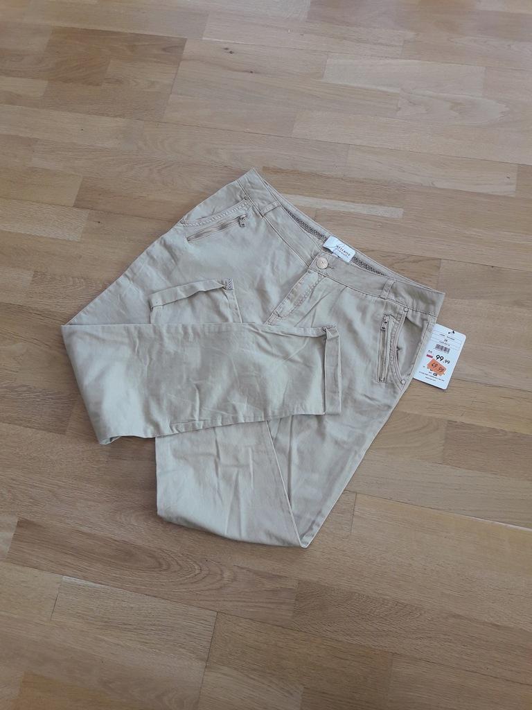 Spodnie eleganckie, beżowe r. M Reserved NOWE