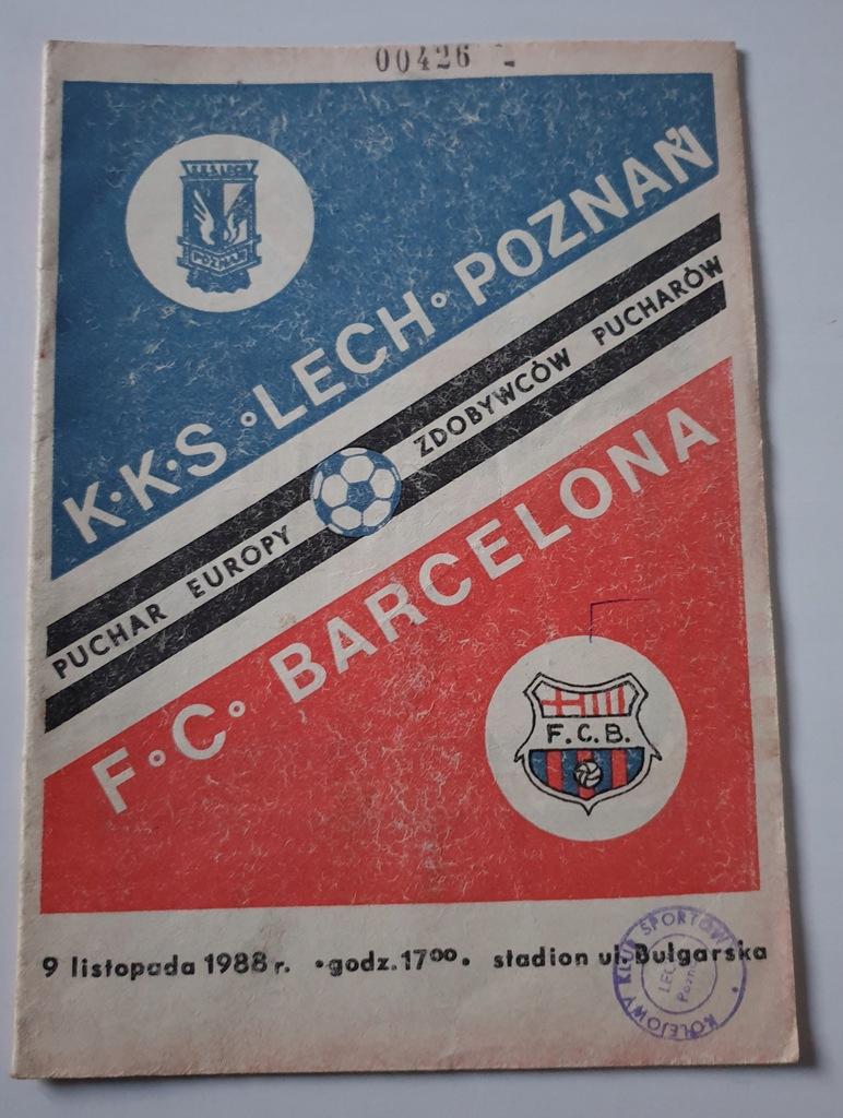 PROGRAM LECH POZNAŃ - FC BARCELONA 1988