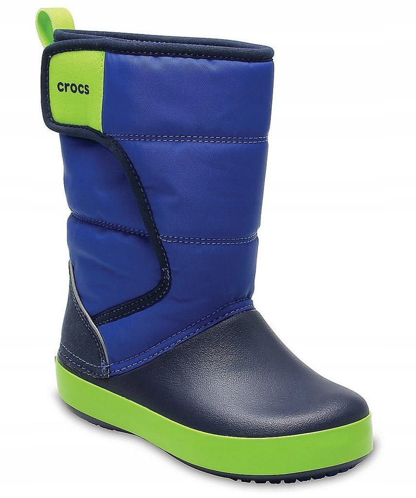 buty dziecięce Crocs Lodge Point Snow Boot - Blue