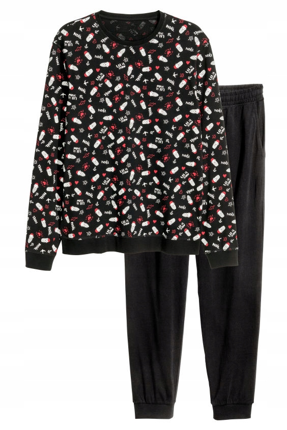H&M Piżama z bluzą i spodniami rozm. M