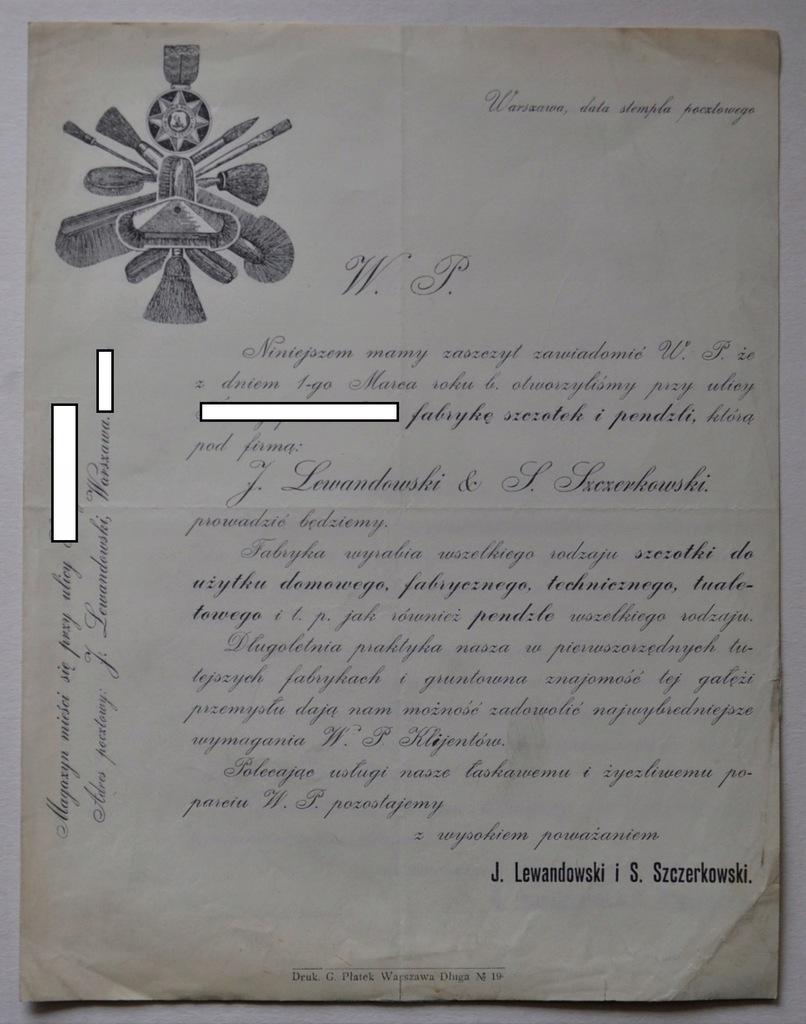 LEWANDOWSKI SZCZERKOWSKI WARSZAWA OFERTA/CENNIK