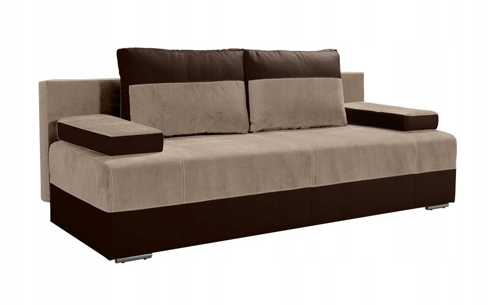 Kanapa LIMON rozkładana wersalka sofa beżowa RIBES