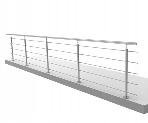 Balustrada nierdzewna 5 x Ø 12 mm - 5,2mb