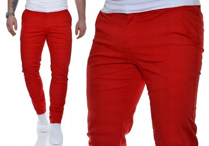 Spodnie Męskie Jeans Mondo Exclusive Slim Czerwone