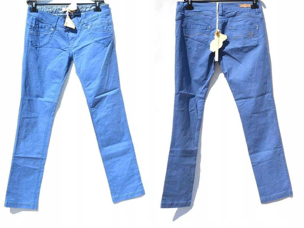 Fracomina - Niebieskie Jeansy Proste Skinny 48