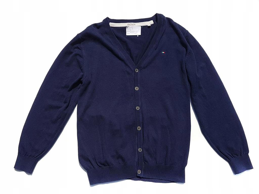 1604 TOMMY HILFIGER granatowy ROZPINANY sweter XL