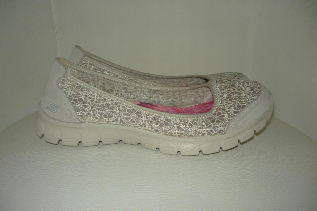 SKECHERS balerinki lekkie buty roz 38,5 25 cm 8553758515