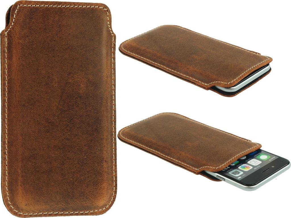 Slim Bcr Skórzane Etui Do Motorola Moto E6 Plus