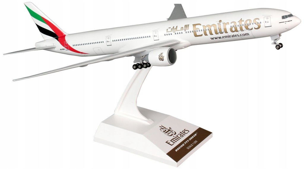 Model samolotu Boeing 777-300 Emirates PODWOZIE
