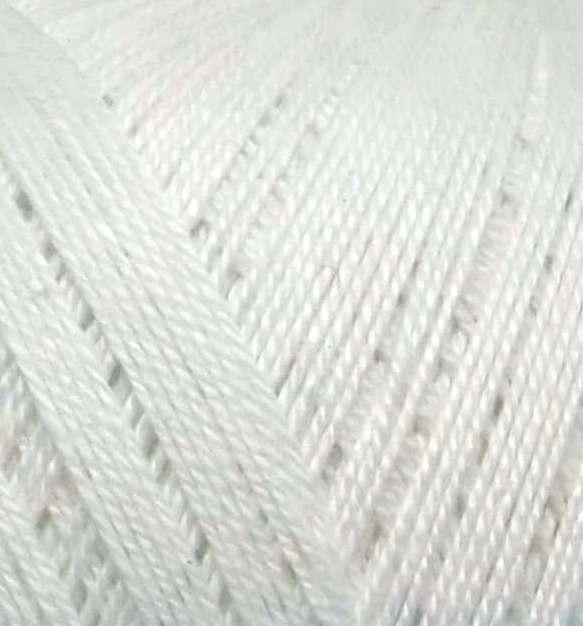 Kordonek FILO DI SCOZIA 8/3 biały 001 bawełna 100%