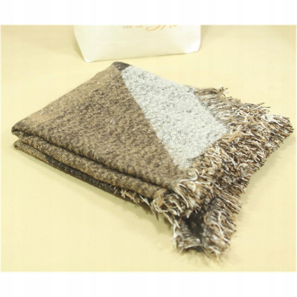 Damski zimowy ciepły szalik długi szalik frędzle (