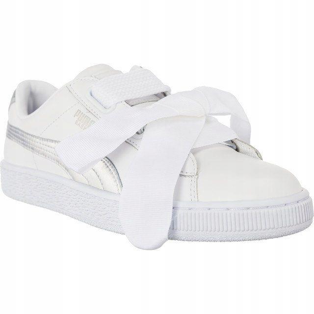 Sneakersy Buty Damskie Puma za kokardą białe 38.5